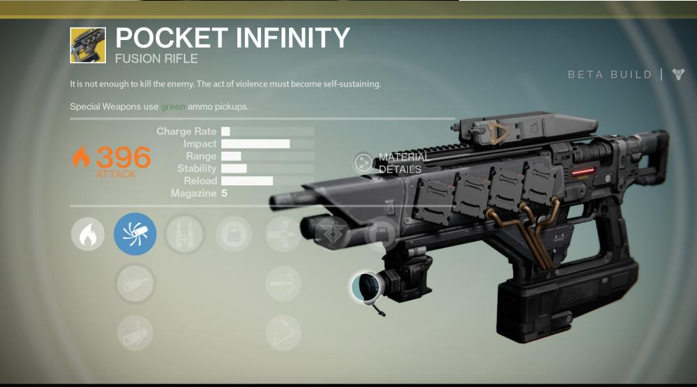 Turn this in to the gunsmith and you get your pocket infinity