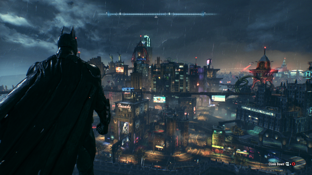Batman: Arkham Knight's visuals are some of the best I've ever seen. Look at the color, detail, and art style. I don't know if Gotham has ever looked so good