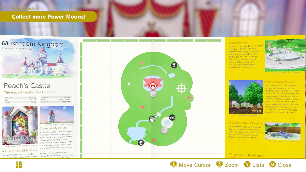 Super Mario Odyssey Mushroom Kingdom Moon Locations