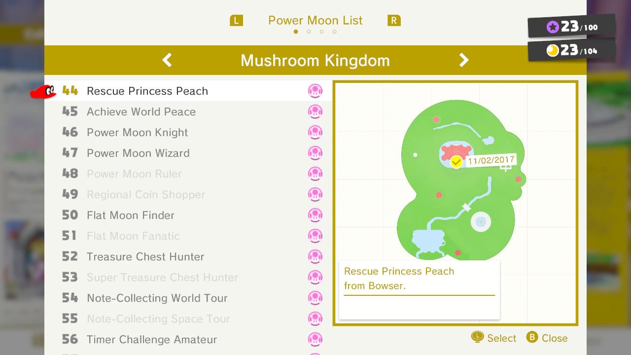 Super Mario Odyssey Mushroom Kingdom Moon Locations